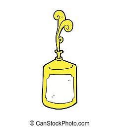 squirting, comico, senape, bottiglia, cartone animato