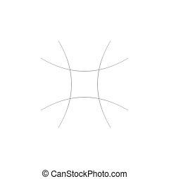 squish, grade, elemento, feito, abstratos, distorção, star-...