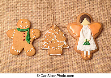 SR Christmas gingerbread on the fabric