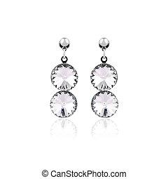 srebro earrings