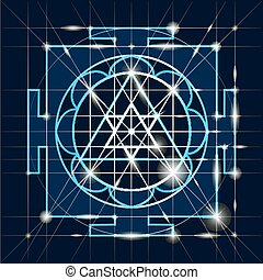 Sree Ganapati Yantra. Sacred Geometry - Ganapati Yantra -...