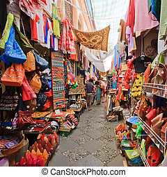Sreet market in Granada, Spain