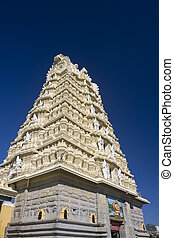 Sri Chamundeshwari Temple on Chamundi Hill in Mysore, India....