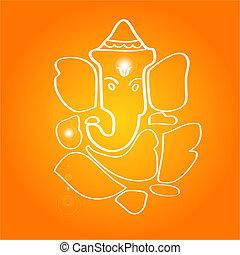 Sri Ganesha - The hindu deity (Hand drawn)