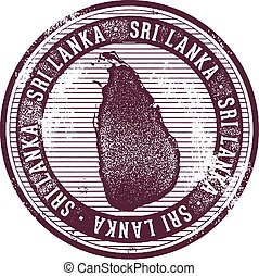 Sri Lanka Country Stamp