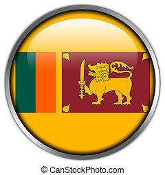 Sri Lanka Flag glossy button