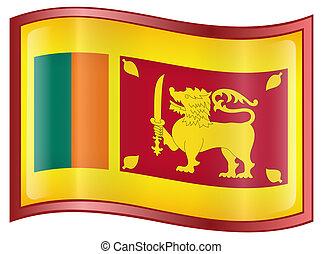 Sri Lanka Flag Icon. - Sri Lanka Flag Icon, isolated on...