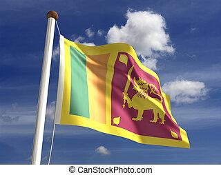 Sri Lanka Flag - Sri Lanka flag (with clipping path)