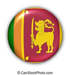 Sri Lanka Flag - World Flag Button Series - Asia - Sri Lanka...