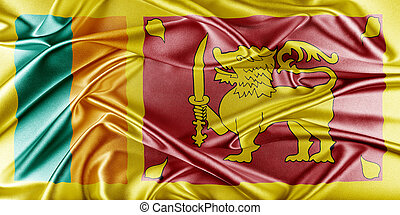 Sri Lanka Flag. Flag with a beautiful glossy silk texture.