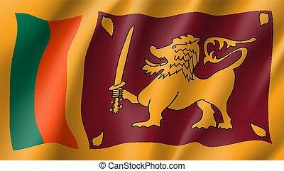 Sri Lanka flag, vector flat style