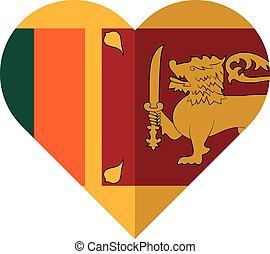 Sri Lanka heart flag