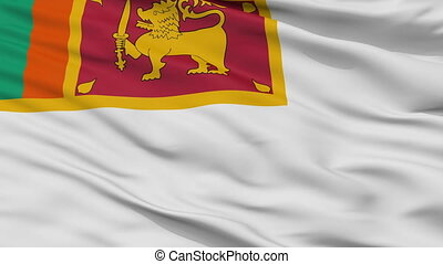 Sri Lanka Naval Ensign Flag Closeup Seamless Loop - Naval...