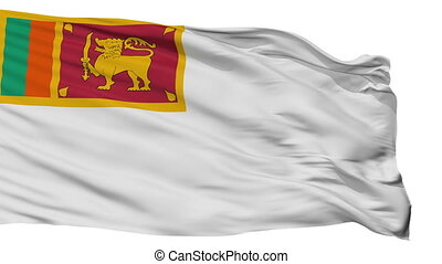 Sri Lanka Naval Ensign Flag Isolated Seamless Loop - Naval...