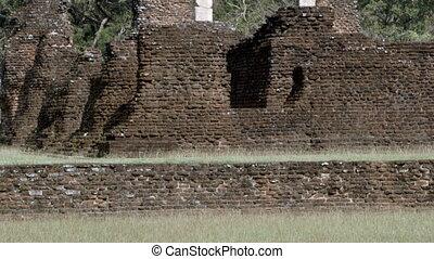 Sri Lanka old ruin - A tilting up shot of Sri Lanka's old...