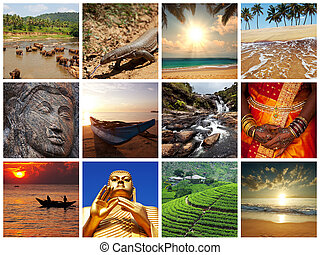 Sri Lanka scene collages