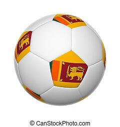Sri Lanka soccer ball - Flags on soccer ball of Sri Lanka