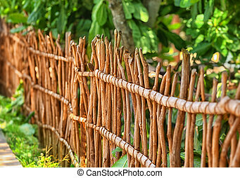 Sri Lanka - the fence of twigs