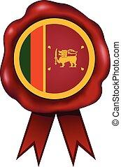 Sri Lanka Wax Seal - Sri Lanka wax seal.