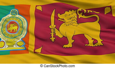 Sri Lankan Army Flag Closeup Seamless Loop - Sri Lankan Army...