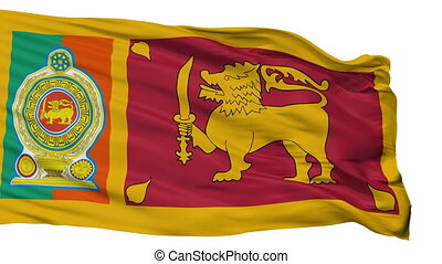 Sri Lankan Army Flag Isolated Seamless Loop - Sri Lankan...