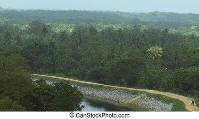 Sri Lankan Countryside in Timelapse. Video 1080p FullHD -...