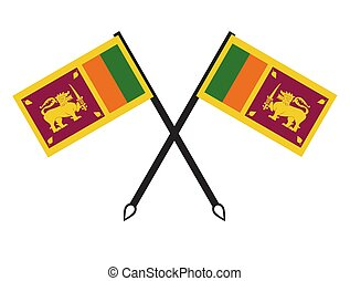 Sri Lankan flag - Sri lankan flag