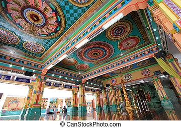 Sri Mahamariamman Indian Temple - Main Prayer Hall at Sri...