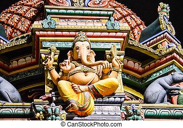 Sri Mariamman Temple, Singapore - Detail of the Sri...