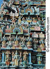 sri, meridional, templo, religioso, ranganathaswamy, (...