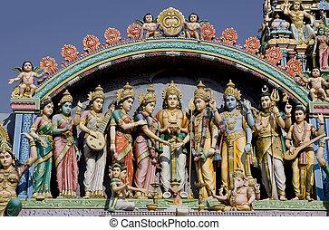 sri, murugan, temple, près, hampi, inde
