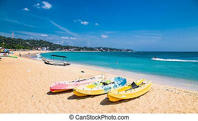 sri, spiaggia, unawatuna, lanka., sabbia, meraviglioso