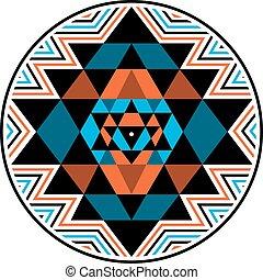 Sri Yantra vector symbol - Sri Yantra sacred symbol, vector...