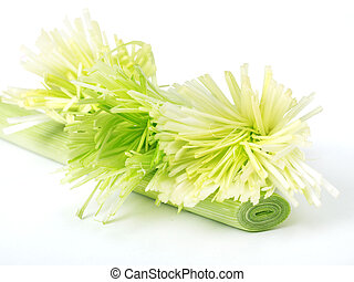 Sring onion made like flower