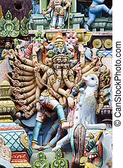 Srirangam - Tamil Nadu - India - Religious sculpture at...