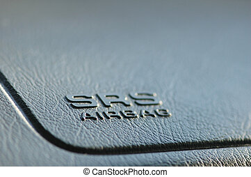 SRS airbag caption on car dashboard