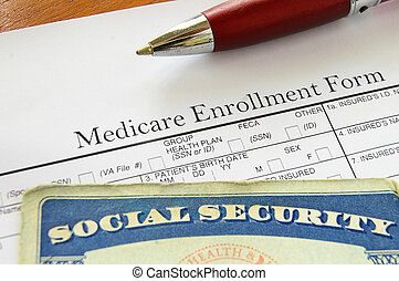 SS and med - Social Security card and Medicare enrollment...