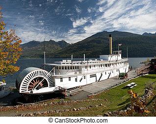 ss, bateau, historique, vapeur, moyie