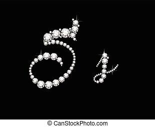 Ss Diamond Script Jeweled Font
