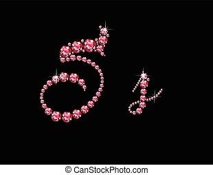 Ss Ruby Script Jeweled Font