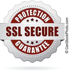 ssl, bescherming, bevestigen, borg staan voor