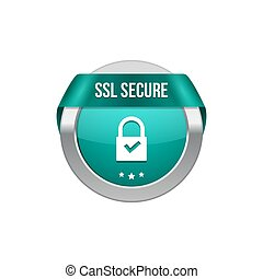SSL secure protection symbol. SSL security transaction...