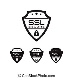 ssl, sicherheit, vektor, ikone