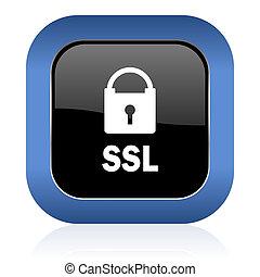 ssl square glossy icon