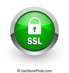 ssl, web, grün, glänzend, ikone