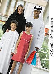 stálý, rodina, mall, focus), (selective, usmívaní