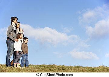 stálý, sad, rodina