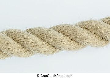 Stück eines Seils, Symbolfoto für Kraft, Zuverlässigkeit ...