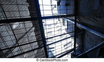 stäbe, -, durch, prison., hd, ansicht