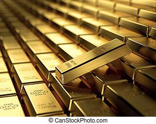 stäbe, gold